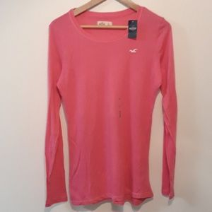 Hollister New Long Sleeve Tee Pink Size L